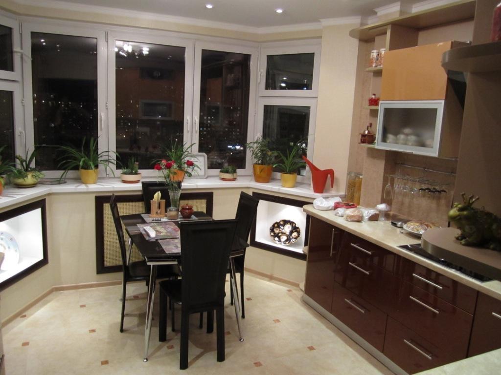 Кухня с эркером п44т фото